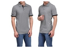 Puma ESS Pique Tipping Polo T Shirt Grey