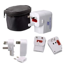 World travel adapter with dual usb